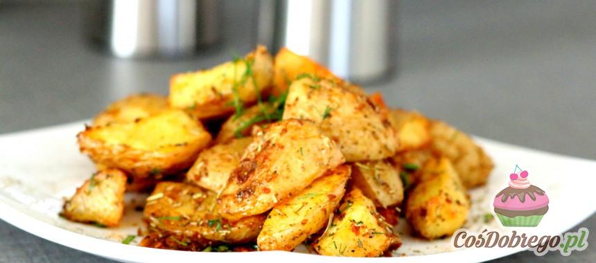 Przepis na Pieczone ziemniaki z czosnkiem