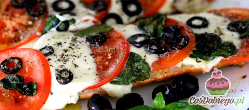 Przepis na Zapiekane bagietki z mozzarellą i pomidorami