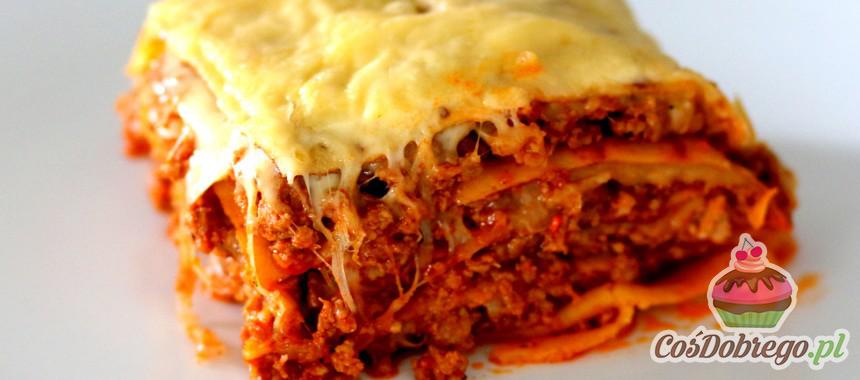Przepis na Lasagne z mięsem i naleśnikami