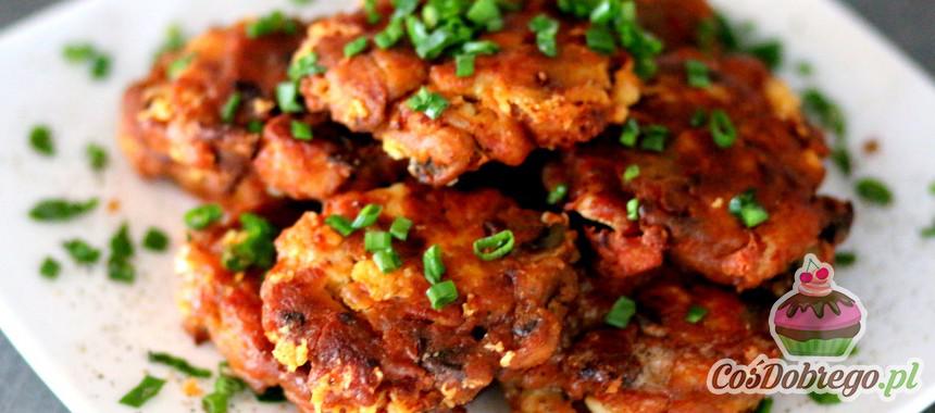Przepis na Placki z kurczakiem i pieczarkami