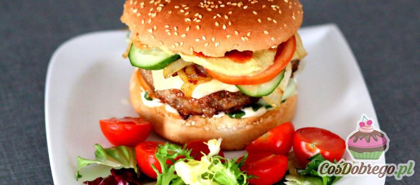 Przepis na Hamburgery z mięsa wieprzowo–wołowego