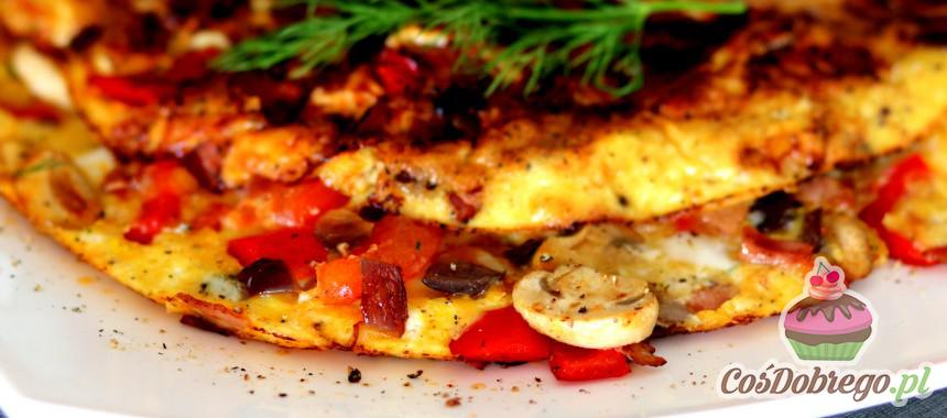Przepis na Omlet z papryką i pieczarkami