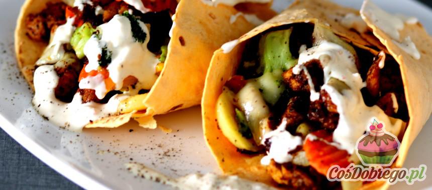 Przepis na Tortille z kurczakiem i warzywami