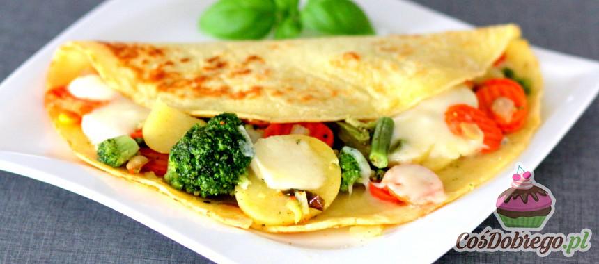 Przepis na Zapiekane naleśniki z warzywami