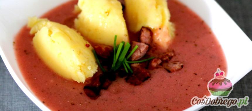Przepis na Barszcz czerwony z dobieranymi ziemniakami