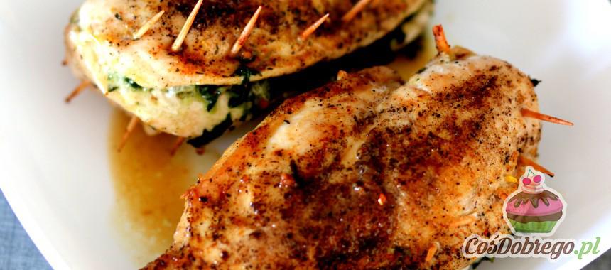 Przepis na Pierś z kurczaka z nadzieniem szpinakowym