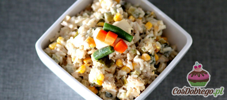 Przepis na Sałatkę z tuńczykiem i ryżem