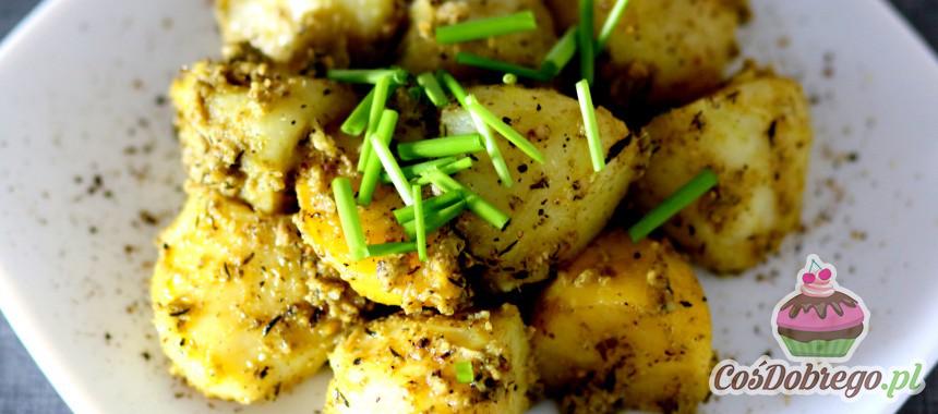 Przepis na Pieczone ziemniaki z pesto