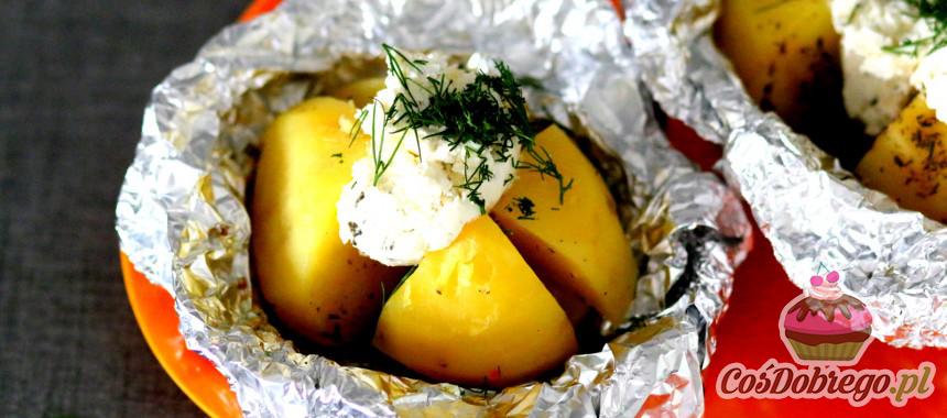 Przepis na Pieczone ziemniaki z twarożkiem
