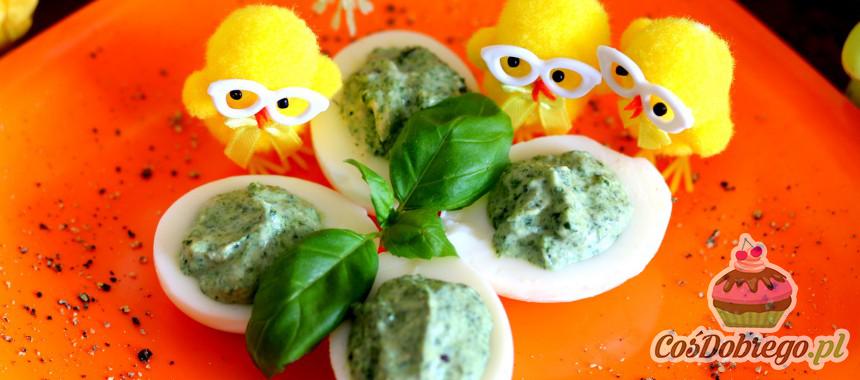 Przepis na Jajka faszerowane pastą szpinakową