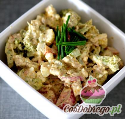 Salatka Z Warzywami I Kurczakiem 01