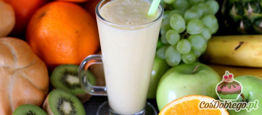 Przepis na Koktajl bananowo – ananasowy