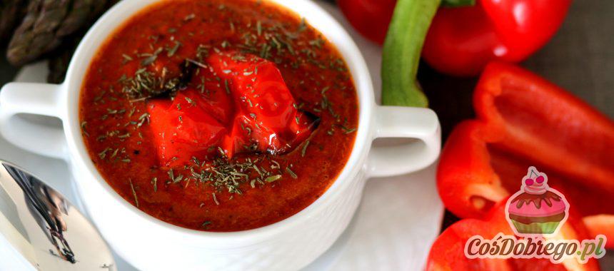 Przepis na Zupę krem z pieczonej papryki