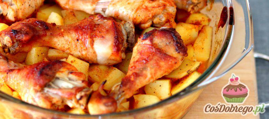 Przepis na Podudzia z kurczaka w miodzie i ketchupie