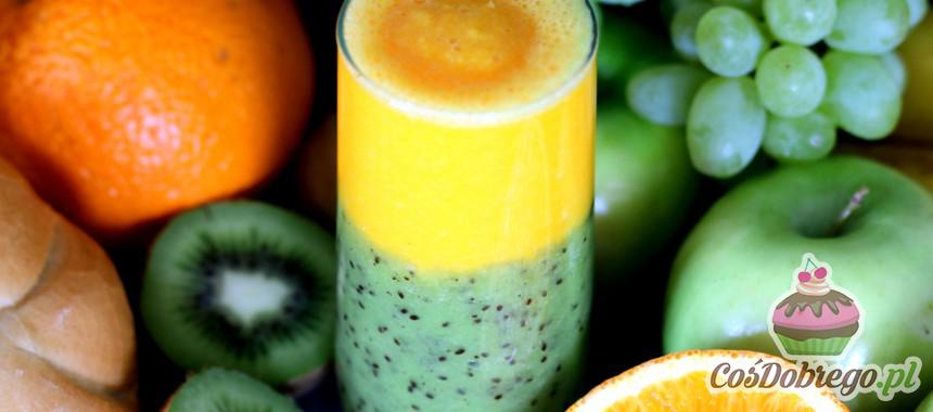Przepis na Warstwowy koktajl z kiwi i pomarańczą