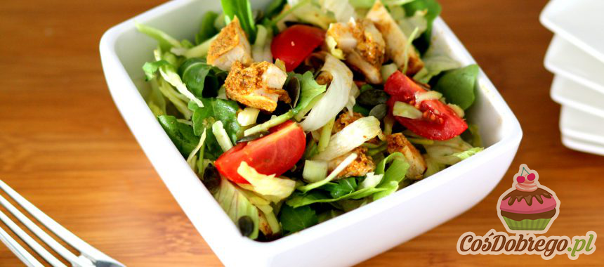 Przepis na Sałatkę z kurczakiem i avocado