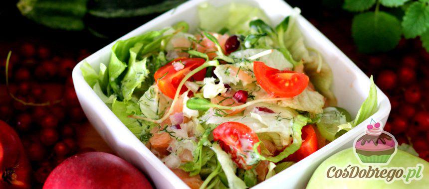 Przepis na Sałatkę z łososiem i winogronem