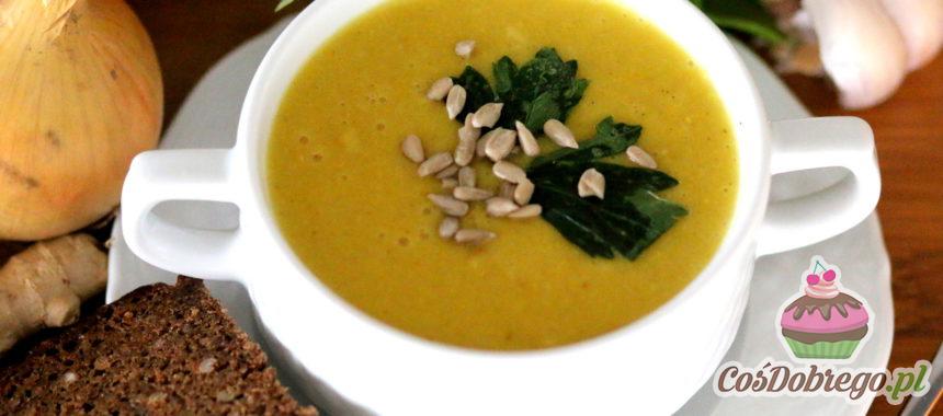 Przepis na Zupę krem z kukurydzy z mleczkiem kokosowym