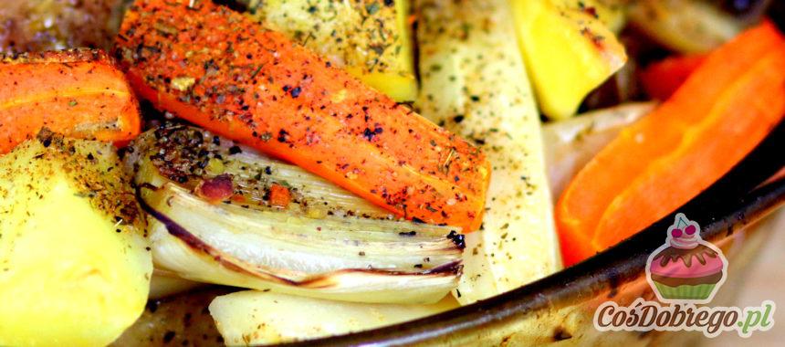 Przepis na Pieczoną kaczkę z warzywami