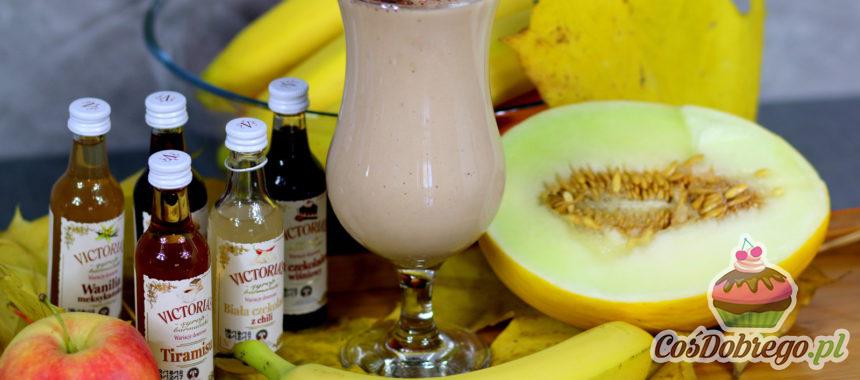 Przepis na Koktajl bananowo – melonowy