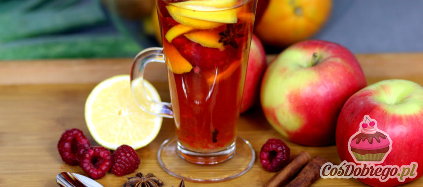 Przepis na Rozgrzewającą herbatę z malinami