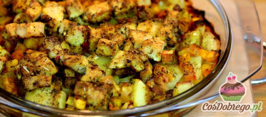 Przepis na Zapiekankę z kurczakiem w curry i dynią