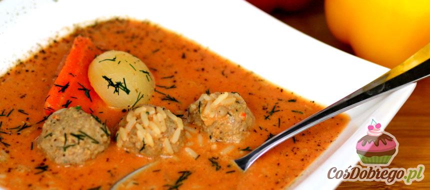 Przepis na Pomidorową z mięsnymi kuleczkami