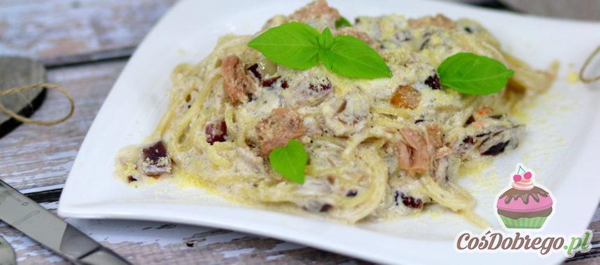 Przepis na Spaghetti z tuńczykiem w sosie śmietanowym