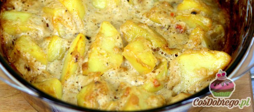 Przepis na Ziemniaki pieczone w sosie cebulowym