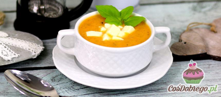 Przepis na Zupę pomidorowo – paprykową z mozzarellą
