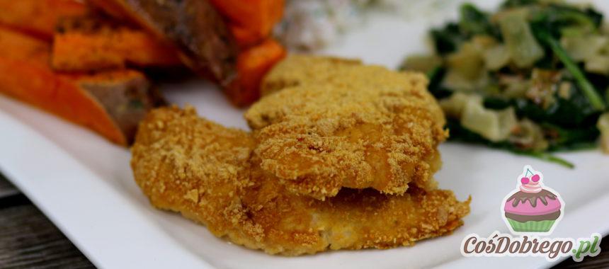 Przepis na Pieczony filet z kurczaka w płatkach kukurydzianych
