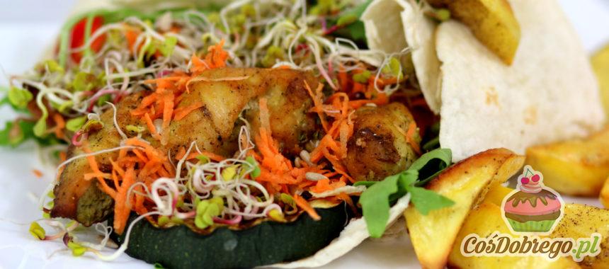 Przepis na Wrapy z warzywami i kurczakiem