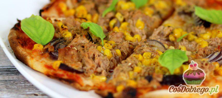 Przepis na Pizzę z tuńczykiem i kukurydzą
